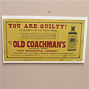 SOLD 50% OFF Drugstore or Pharmacy Advertising Sign for Old Coachmans Rheumatic Remedy