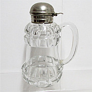 SALE Syrup Pitcher, Jar or Jug Antique Glass 1890's American