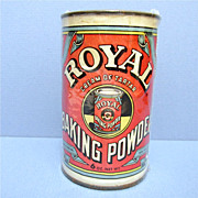SALE Royal Baking Company Baking Powder Advertising Tin 6 ounce Size