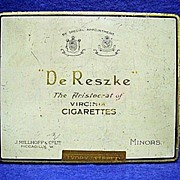 REDUCED De Reszke Virginia Advertising Cigarette Pocket Tin