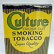 SALE Advertising Culture Tobacco Box MINT Unused