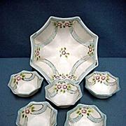 SALE Nut Set  Japanese Porcelain Hand Painted