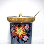 SALE Lusterware Porcelain Jar for Jelly, Jam or Candy  $36