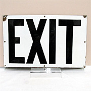 SALE EXIT Sign from New York Subway System