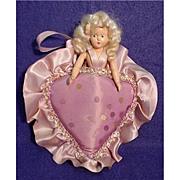 SALE Doll Heart Shaped Pin Cushion Style Body
