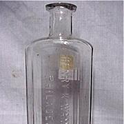 SALE Early Glass Pharmacy Bottle By Henry K. Wampole Philadelphia