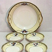SALE Noritake Porcelain Bowl and Four Servings