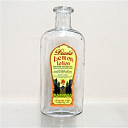 Lemon Lotion Bottle from an Old Pharmacy