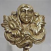 SALE Hat Pin Art Nouveau Gold Gilt Hatpin  $155