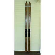 SALE Victorian Wood Skis Early Pointed Tip Pair