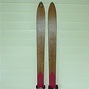 SALE Skis Pair of Lund Childs Wood Skis