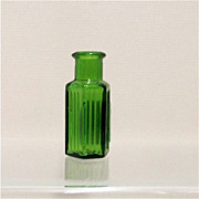 SALE Poison Apothecary Bottle Emerald Green