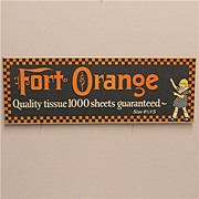 SALE Advertising Sign Fort Orange  Counter Top Display 50% OFF