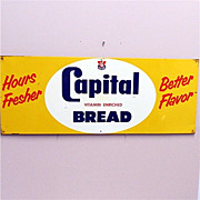 REDUCED Capitol Bread Advertising Sign