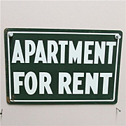 REDUCED Tin Sign Apartment for Rent