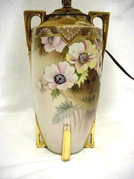 Lamp Nippon Porcelain Hand Painted