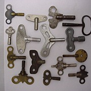 SOLD 15 Clock Keys Assortment of Sizes and Shapes