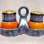 Lusterware Three Piece Salt and Pepper Shaker Set