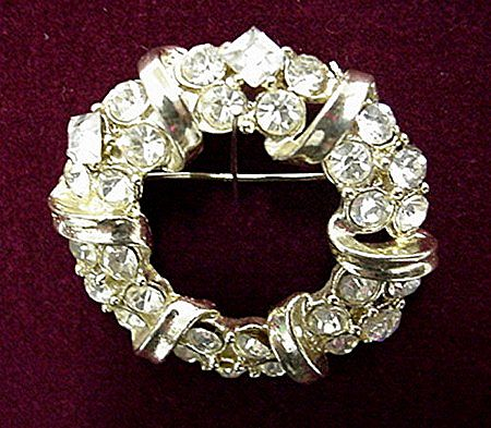Rhinestone Brooch or Pin