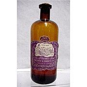 """Amber Glass Essential Oil Bottle 7"""" tall"""