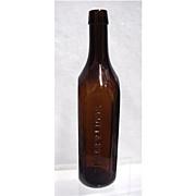SALE Amber Bottle Scott & Bowne New York Chemists