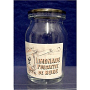 SALE Limonade Purgative Drugstore or Pharmacy Bottle