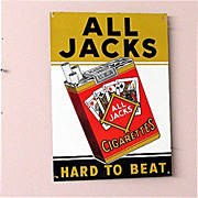 SOLD All Jacks Cigarettes Tin Advertising Sign