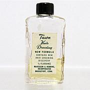 SALE Tawn Hair Dressing Glass Bottle