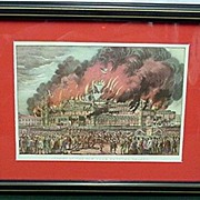 Framed Print  The Burning of New York Crystal Palace