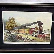 Framed Railroad Train Print