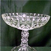 SALE Glass Compote