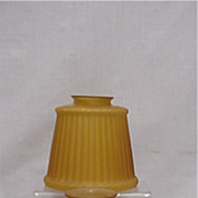 SALE Amber Glass Shades Matching Pair