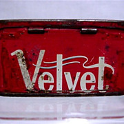 SOLD Velvet Advertising Tobacco Match Container