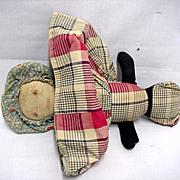 SALE Topsy Turvy Cloth Doll American Folk Art