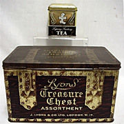 SALE Lyons Advertising Tins Tea and Assorted Biscuits