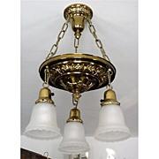 SALE Ceiling Drop Light Fixture American Victorian Circa 1880