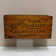 SALE Libbys Wood Advertising Box