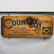 SALE Country Boy Grape Wood  Advertising Sign  $12