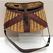 Early Leather Bound Tight Weave Creel