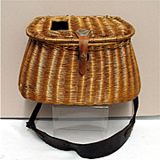 Early Hand Woven Creel with  Shoulder Strap