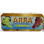 SALE ARRA Grapes Wood Advertising Sign 50+% OFF
