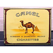 REDUCED Camel Cigarettes Flat Fifty Cigarette Tin