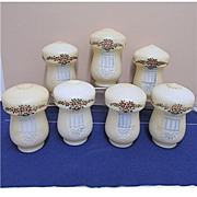 SALE Seven Antique Glass Lamp Shades for Hanging Light Fixture Buy 1 Or All 7