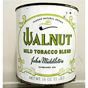 SALE Walnut Tobacco Tin One Pound  Unopened 50% OFF