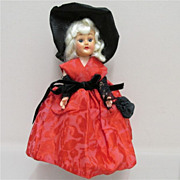 SALE Satin, Velvet and Lace  Dressed Collectible Doll