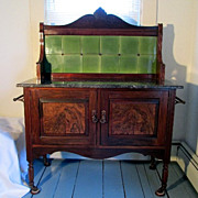 SALE Victorian Marble Top Wash Stand