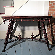 SALE Victorian Center Table Merklen Bros. of New York
