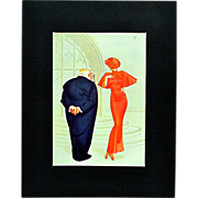 SALE George Petty Cartoon Print June 1935 Esquire Magazine