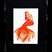 SALE Petty Girl Print January 1938 by George Petty