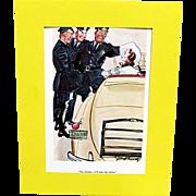 SALE 3 Cartoons Prints By Gilbert Bundy Esquire Magazine 1936-37
